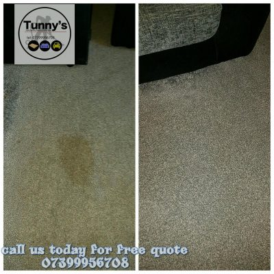 stain removal from a carpet
