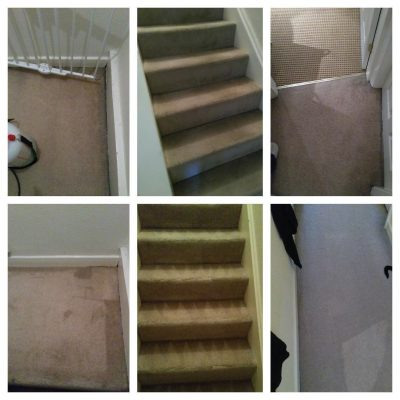 stars and landing before and after professional carpet cleaning