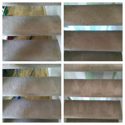 stairs carpet cleaned