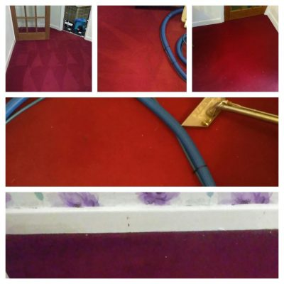 before and after red carpet cleaning