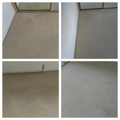 Before and after cream bedroom cleaning