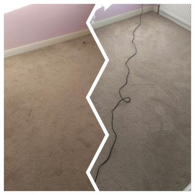 before and after cream carpet cleaning