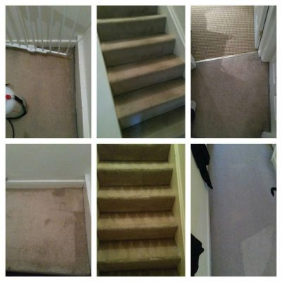 before and after cleaning carpets